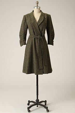 Herringbone Wrap Coat by Anthropologie