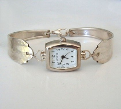 Silver Spoon Watch by LT Creates Jewelry $35