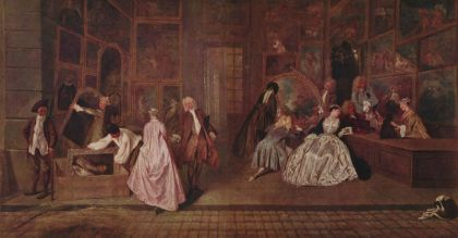 Gersaint's Shop Sign - Antoine Watteau, 1720.