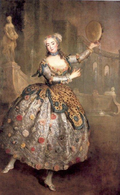 Portrait of Barbara Campanini - Antoine Pesne, C.1745