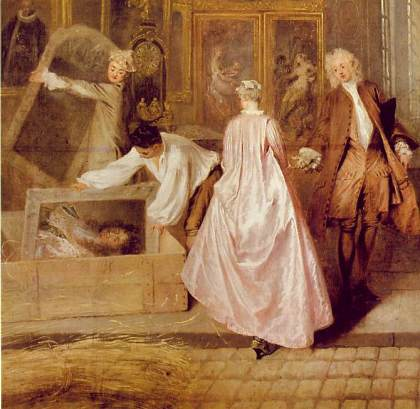 Detail of Gersiant's Shop Sign by Watteau