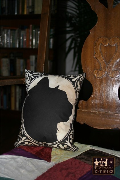 Small Cat Silhouette Print Pillow by Kerry Kate: $22.50