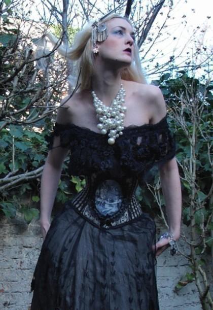 Louise Black Cameo Corset: $189.50