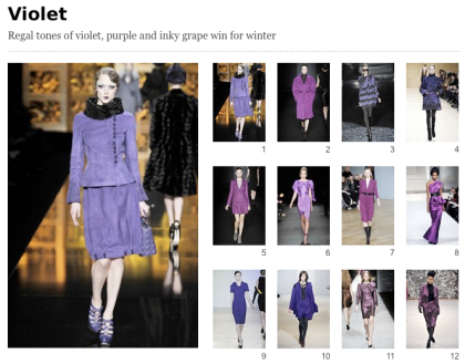 Vogue's Violet Trends
