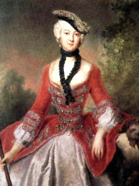 Sophia Maria, Countess of Voss - Antoine Pesne
