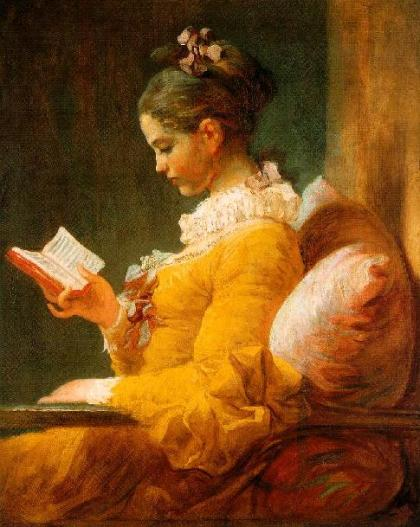 Girl Reading by Fragonard