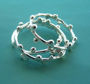 Delicate Twig Stacking Ring Set, by ES Designs