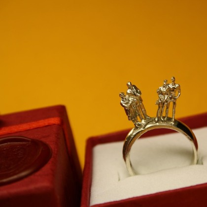 Couple Reminiscing Ring (Sterling Silver)